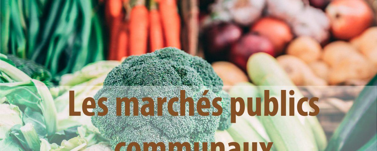 marchés publics pour approvisionner la commune en nourriture et boissons